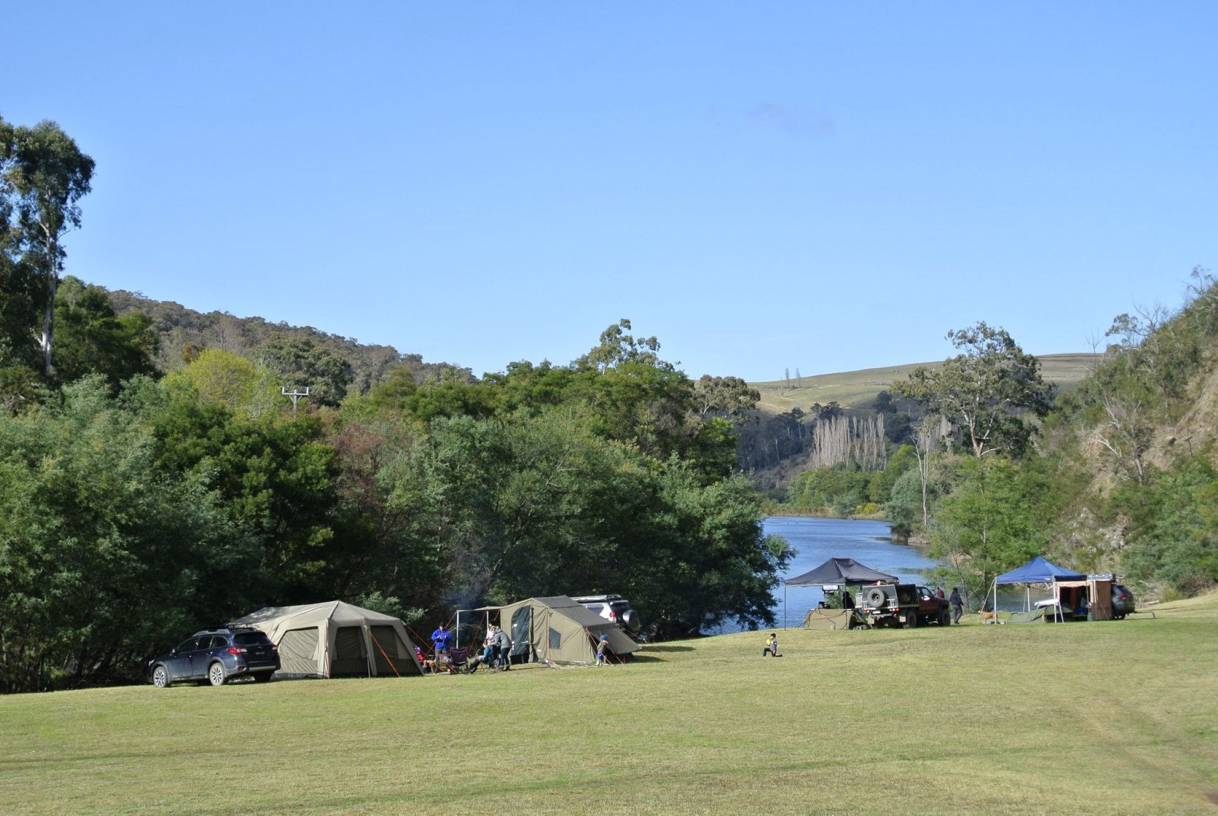 Montana on the Macalister Campground  Caravan Park - Lismore Accommodation